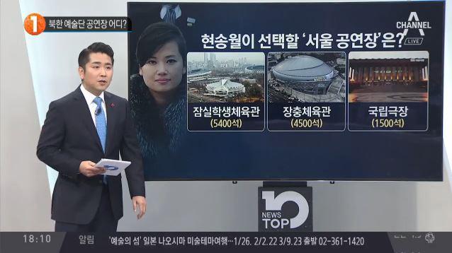 북한 예술단 공연장 어디?