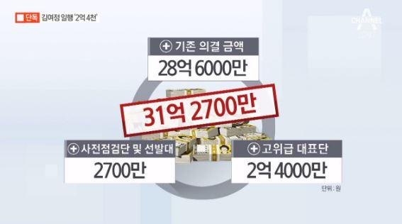 <font color=red>[단독]</font>김여정 일행에 2억 4천 이미지