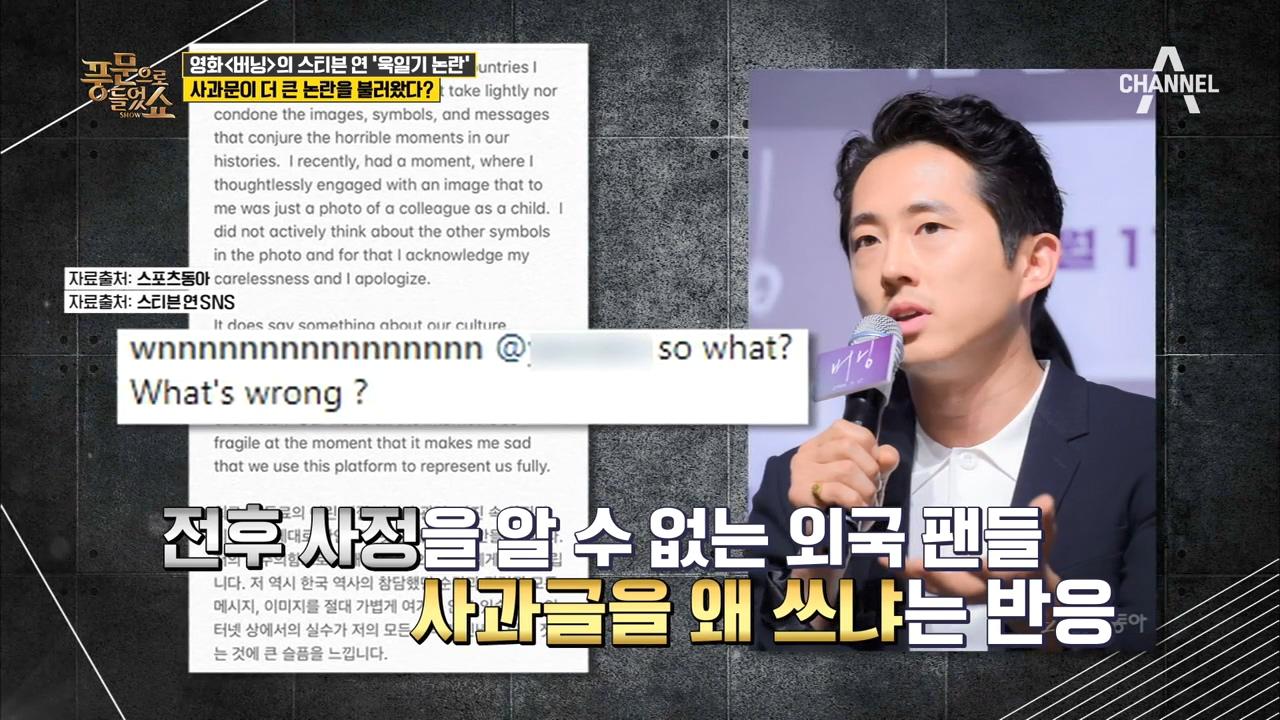 스티븐연, 욱일기 논란! 실수다?! vs 의식부족이다? 이미지