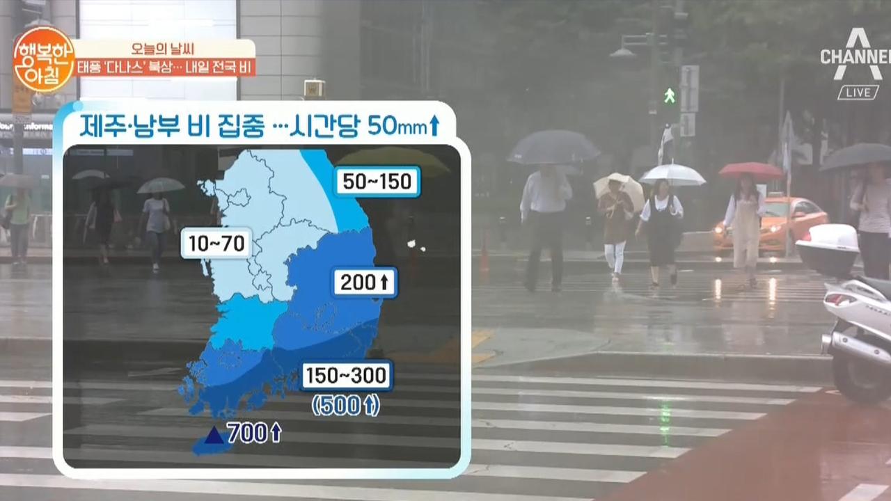 [날씨] 7/19  태풍 다나스 북상 경로 (내일 전국 비 예정) 이미지