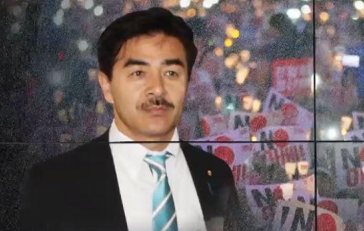 """日 외무성 인사 """"광복절 촛불집회 억지스럽다"""" 막말"""