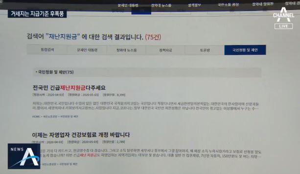 """""""공무원 왜 주나""""…국민청원 달군 재난지원금"""