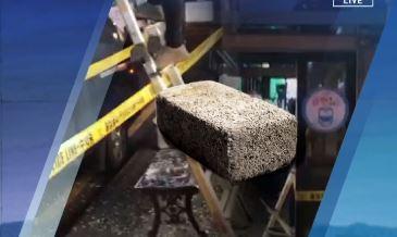 유세현장에 날아온 벽돌…경찰, 수사 착수