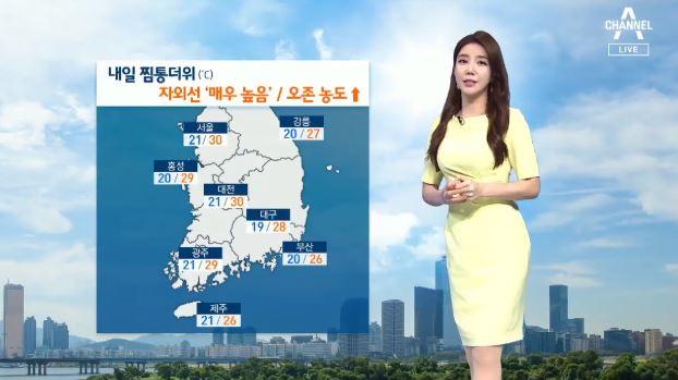 [날씨]'30도 안팎' 무더위 기승…자외선 지수 높아