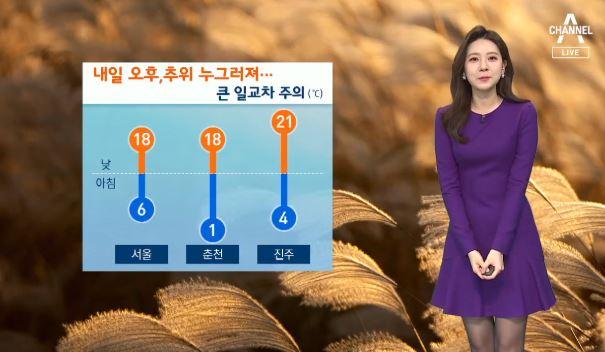 [날씨]내일부터 추위 누그러져…큰 일교차 주의