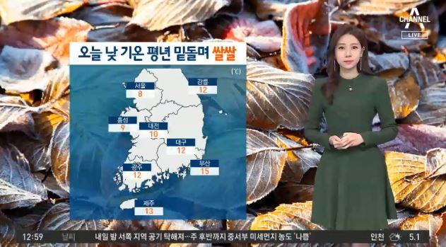 [날씨]오늘 서울 낮 8도 '쌀쌀'…미세먼지 또 다시 기승