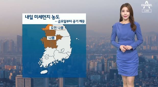 [날씨]내일 서울 등 미세먼지 나쁨…동해안 비소식
