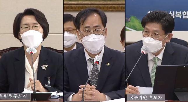 """野 """"임·박·노, 장관 후보자 부적격""""…與 """"총리 청문회 본 뒤"""""""