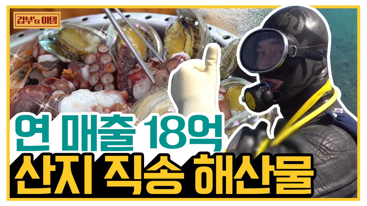 [갑부's 아템] ※침샘주의※ 식탁 위 자연산 해산물의 향연♬ 연 매출 18억 다이버의 성공 비결! 이미지