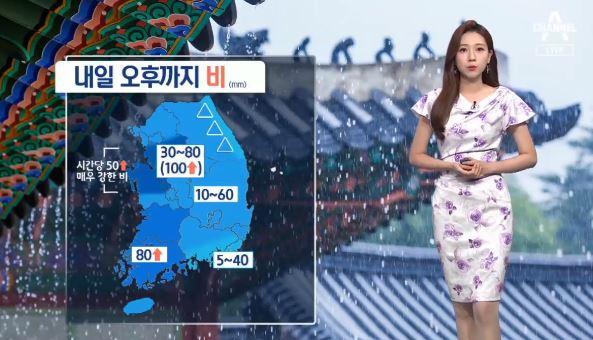 [날씨]내일도 우산 필수…많은 곳 최고 100mm 호우