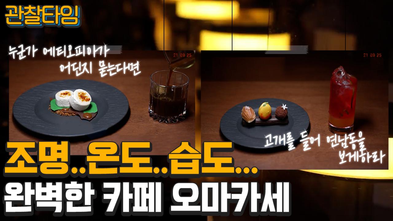 [#관찰타임] 인생샷 겟- 조명...온도...습도... 완벽한 카페 오마카세! 이미지