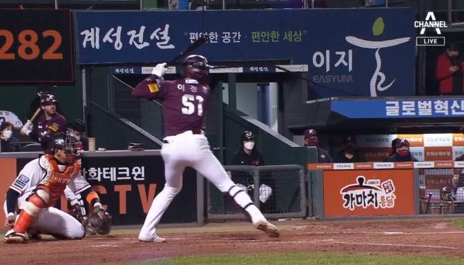 이정후, 데뷔 첫 사이클링히트…부자 타격왕 '성큼'