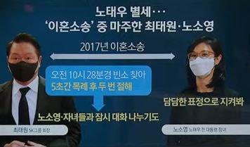 """빈소 지킨 노소영·조문 온 최태원…""""아무쪼록 영면하셨으면"""""""