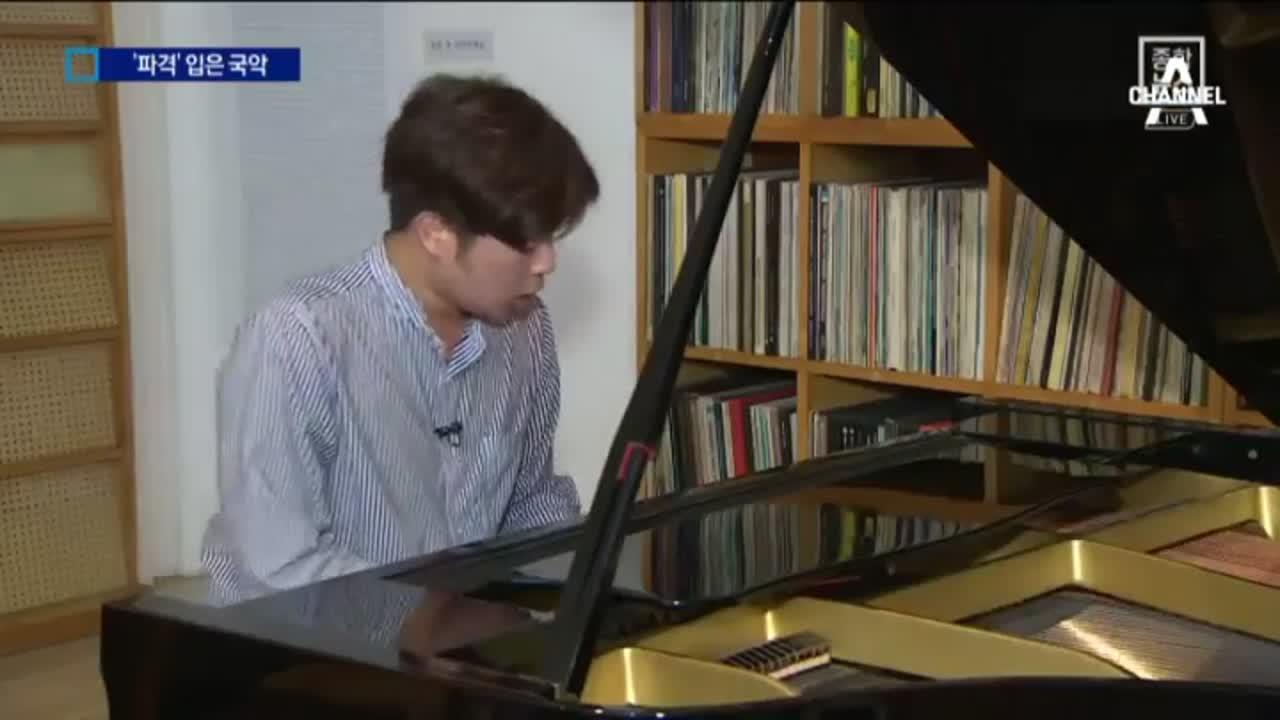 피아노 치는 판소리 아이돌 이미지