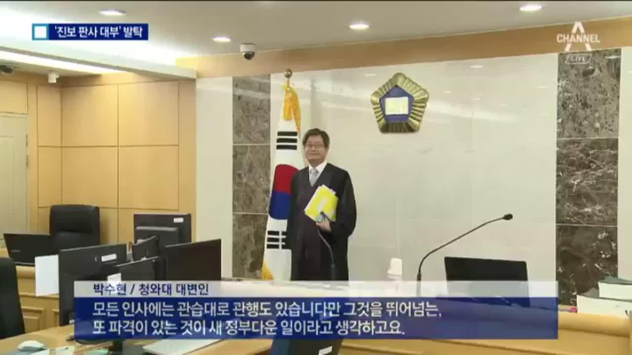 '진보 판사' 김명수, 대법원장 후보자 지명