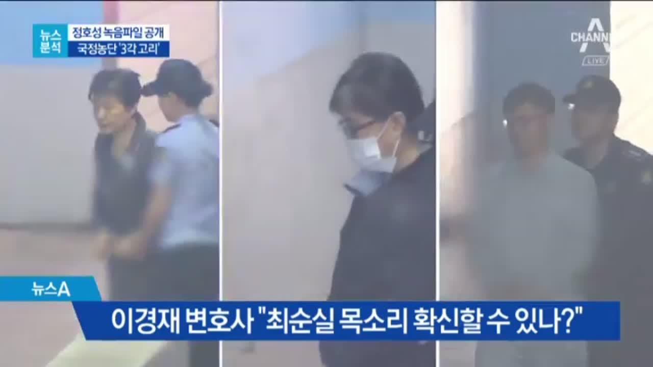 [뉴스분석]정호성 녹음파일 공개…국정농단 '3각 고리'