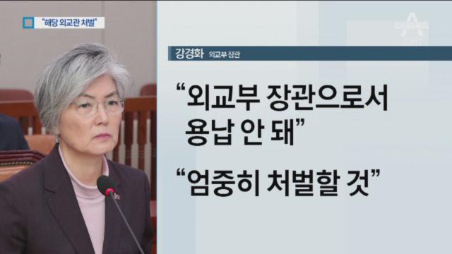"""강경화 """"통화 의도적 유출…외교관 처벌"""" 이미지"""