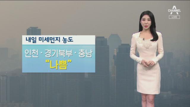 [날씨]인천·경기·충남 '미세먼지 나쁨'…모레부터 대기질 청정