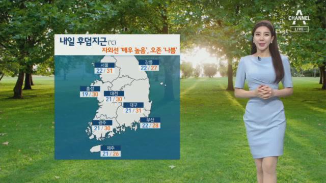 [날씨]내일 한낮 서울·대구 31도…내륙 곳곳 소나기