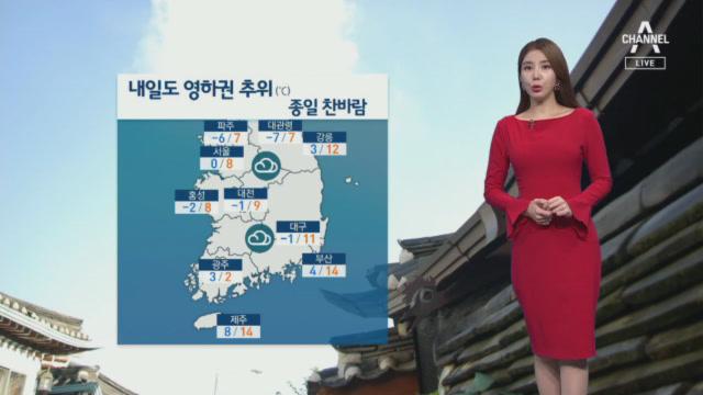 [날씨]내일 아침 영하권 추위 계속…낮에도 찬바람