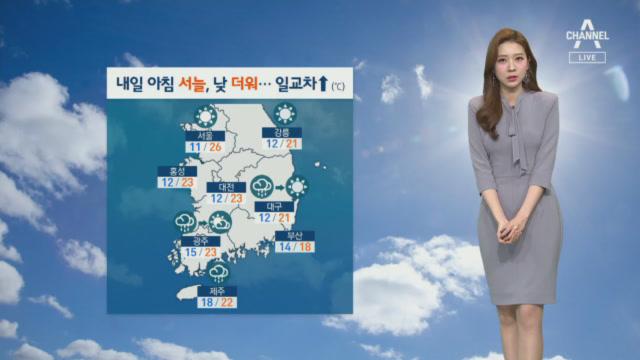 [날씨]내일 서울 낮 기온 26도…초여름 더위