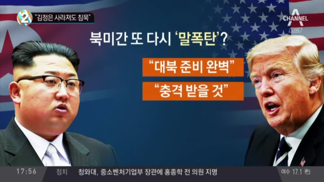 """""""김정은 사라져도 침묵"""""""