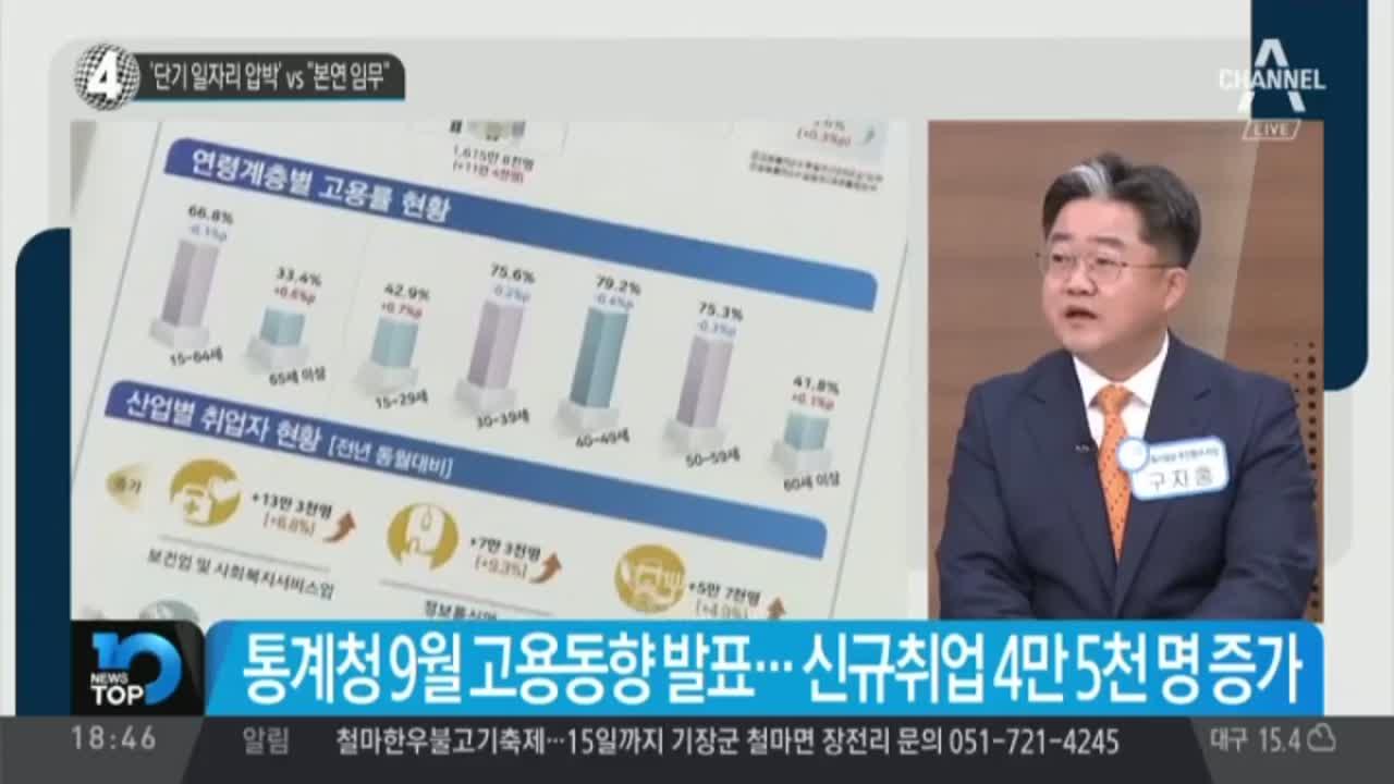 """'단기 일자리 압박' vs """"본연 임무"""""""