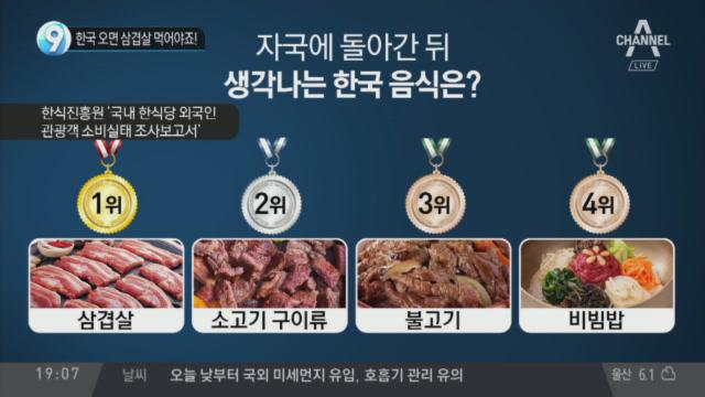 한국 오면 삼겹살 먹어야죠!