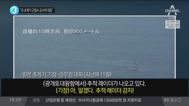 """""""日 초계기 근접시 군사적 대응"""""""