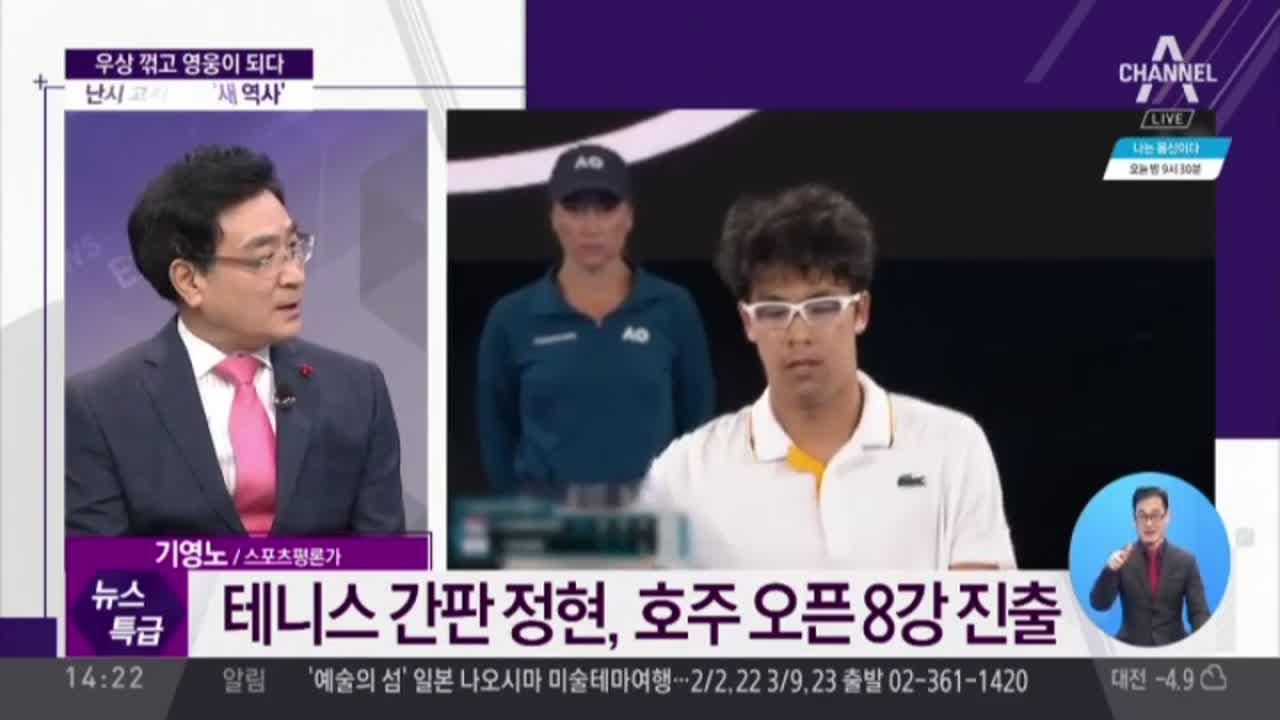 우상 꺾고 영웅이 되다…정현, 조코비치 3-0 완파