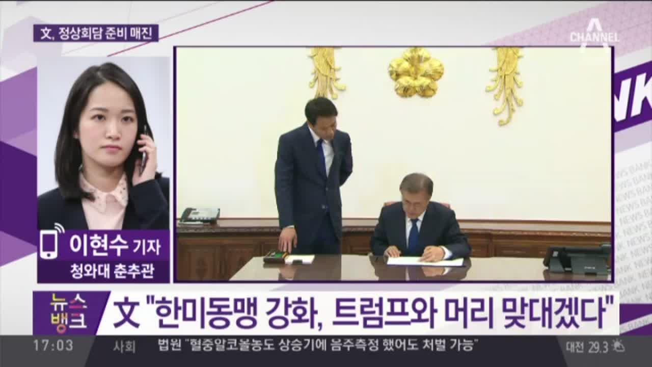文 대통령, 한·미 정상회담 '준비 매진'
