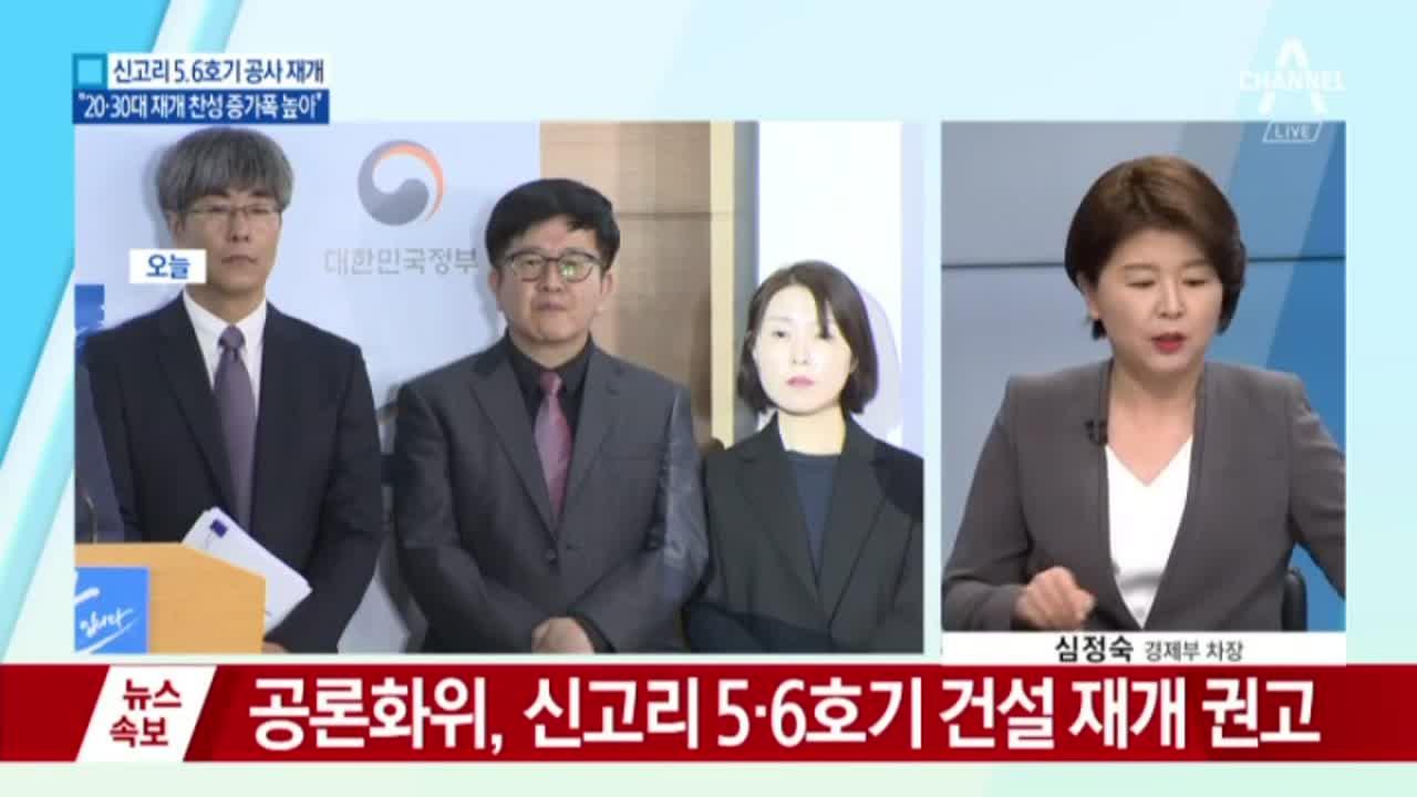 '신고리 5·6호기' 최종 조사결과 건설 재개 59.5%
