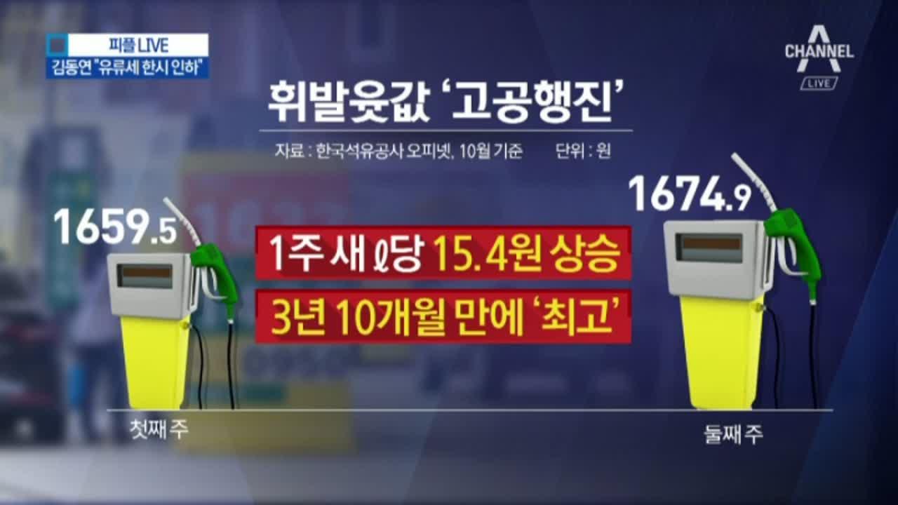 """김동연 """"유류세 한시 인하""""…휘발유 82원 내릴 듯"""