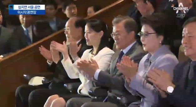 대통령·김여정, 삼지연 서울 공연 나란히 관람