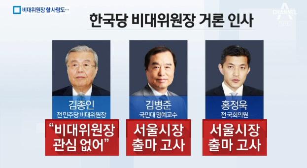 비대위원장 맡을 사람도…혼란에 휩싸인 한국당