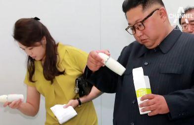 김정은 부부, 화장품 공장 시찰…민심 얻기 주력