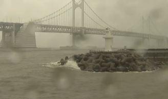 태풍 '쁘라삐룬' 북상…부산 비바람 피해 속출