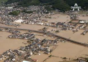 일본 폭우 사망·실종 200명 육박…아베, 유럽순방 취....
