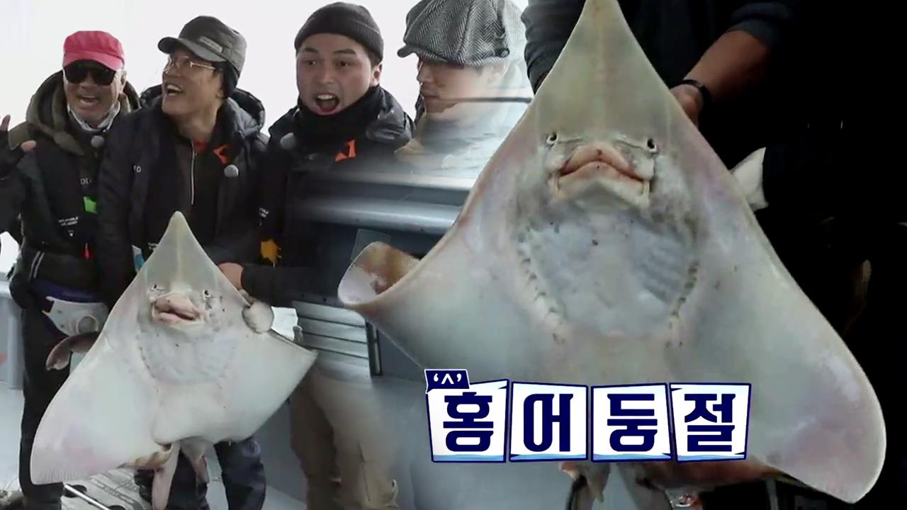 대왕 홍어 낚시로 잡아봄? 명불허전 2018 홍어킹 이....