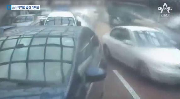 교차로서 레미콘 등 차량 29대 추돌…9명 부상