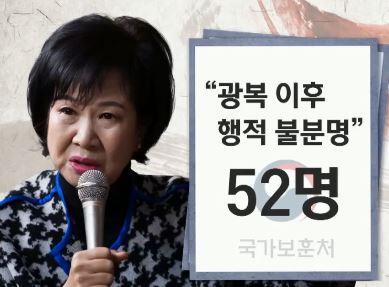 [단독]광복 이후 '행적 불분명'…같은 사유 52명은 ....