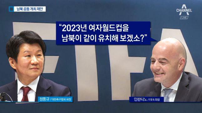 """2023년 女월드컵 남북 공동유치 제안…정부 """"긍정적 ...."""
