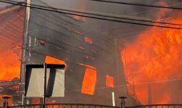 서울 은평구 모델하우스 화재…북한산까지 번져