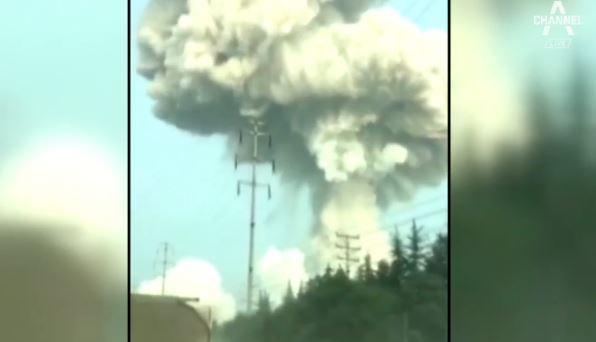 중국 가스공장 폭발로 10명 숨져…공장 일대 건물도 훼....