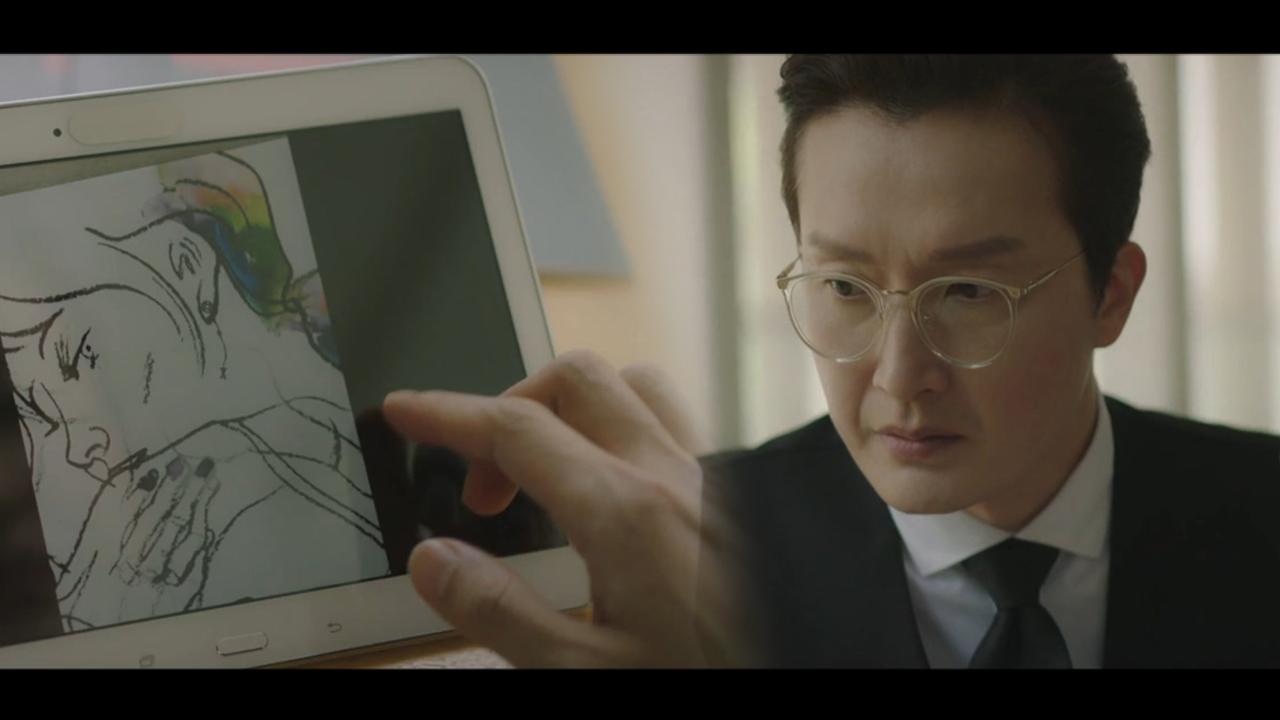 동혁의 그림에서 아내 지원의 모습을 발견한 남편, 의심....