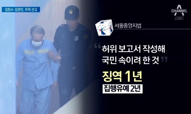 '세월호 보고 조작' 김기춘만 유죄…검찰, 즉각 항소 ....