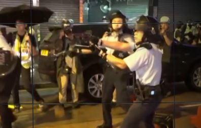 홍콩 시위대 위로 실탄 '쾅'…'경고 사격'에 긴장감 ....