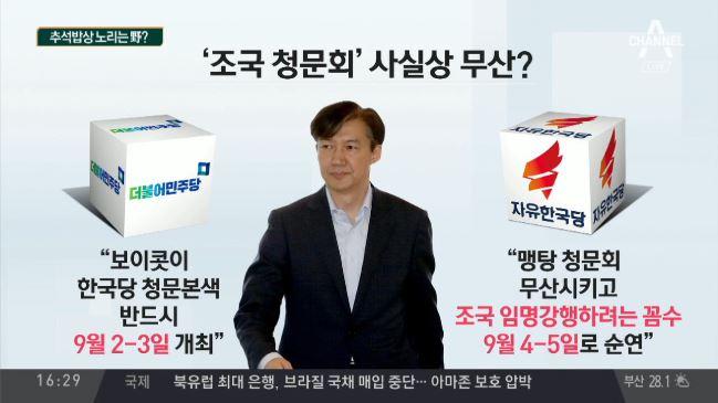 '안갯속' 조국 청문회…내달 2~3일, 사실상 무산?