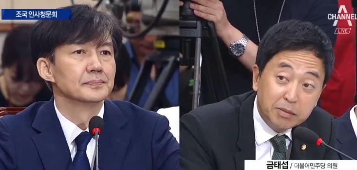 [청문회영상] 금태섭 의원이 지적한 조국 후보자 내로남....