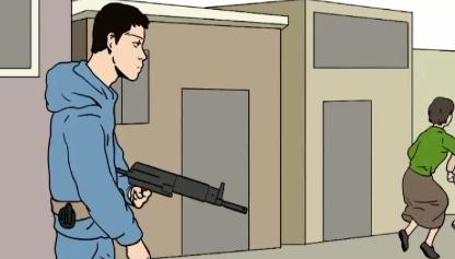 [판결의 재구성]시가전 방불케한 도심 한복판 총격전
